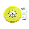 "6"" (150mm) Multi-Hole All in One Dust-free M8 and 5/16-24"" Thread Back-up Sanding Pad"