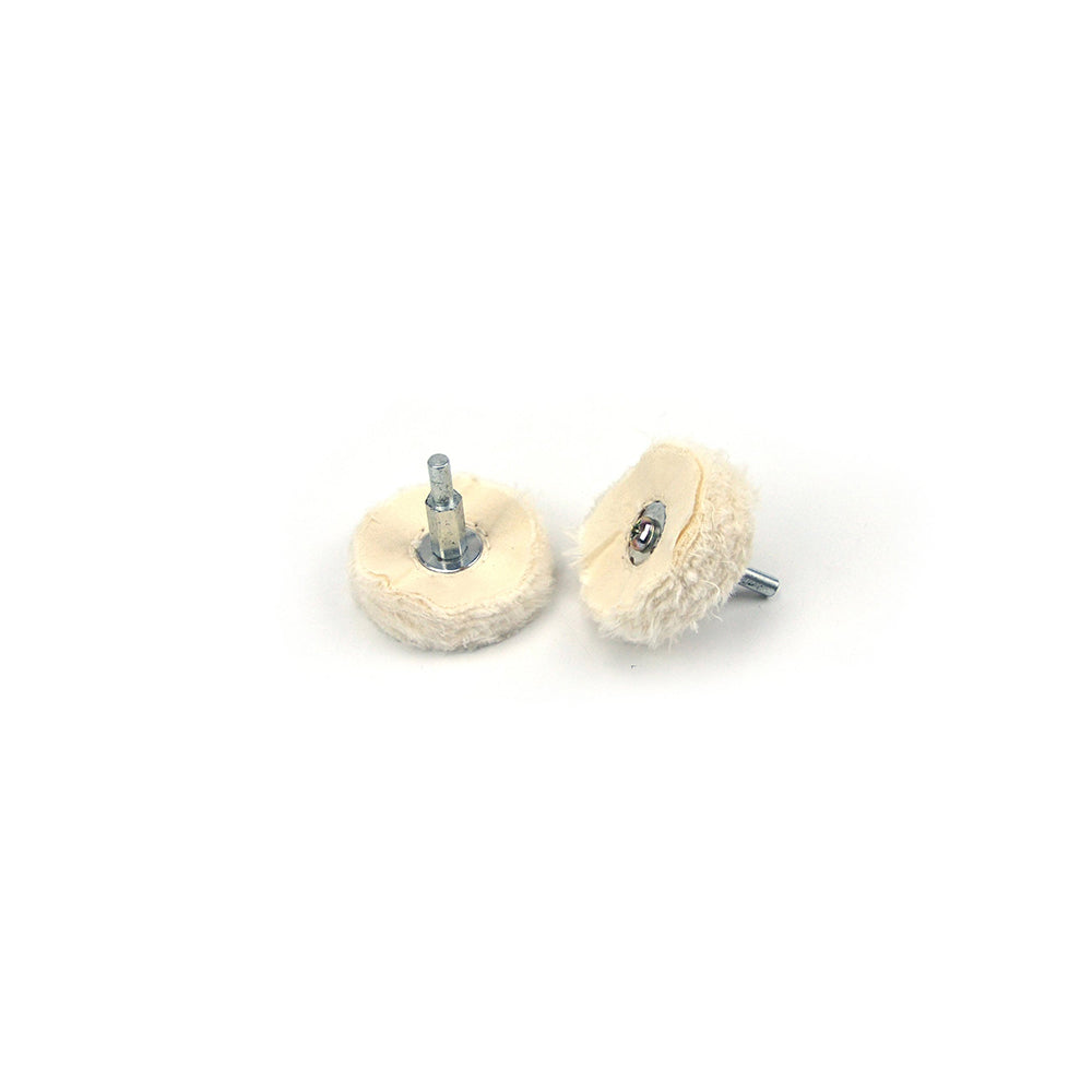 "2"" (50mm) x 6mm Shank Mounted Cotton Buffing Wheels"