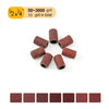 "1/2"" (12.7mm) x 1/4"" (6.35mm) Aluminum Oxide Sanding Ring Bands Spiral Wound Sanding Sleeves (80-600 Grit), 1 Band"