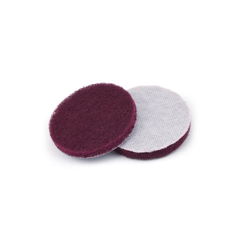 "3"" Medium(400 Grit) Round Heavy Duty Hook and Loop Scouring Pads"