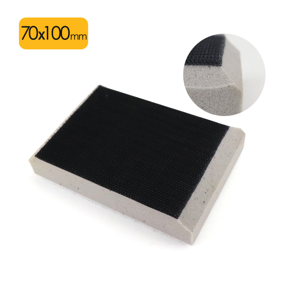 70x100mm Chamfering High Density Hard Hook & Loop Surface Protection Interface Buffer Backing Pad
