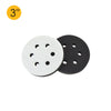 "3"" (75mm) 6-Hole Soft Sponge Dust-free Interface Buffer Backing Pads"