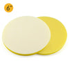 "6"" (150mm) Soft Sponge Yellow Flat Hook & Loop Surface Protection Interface Buffer Backing Pad"