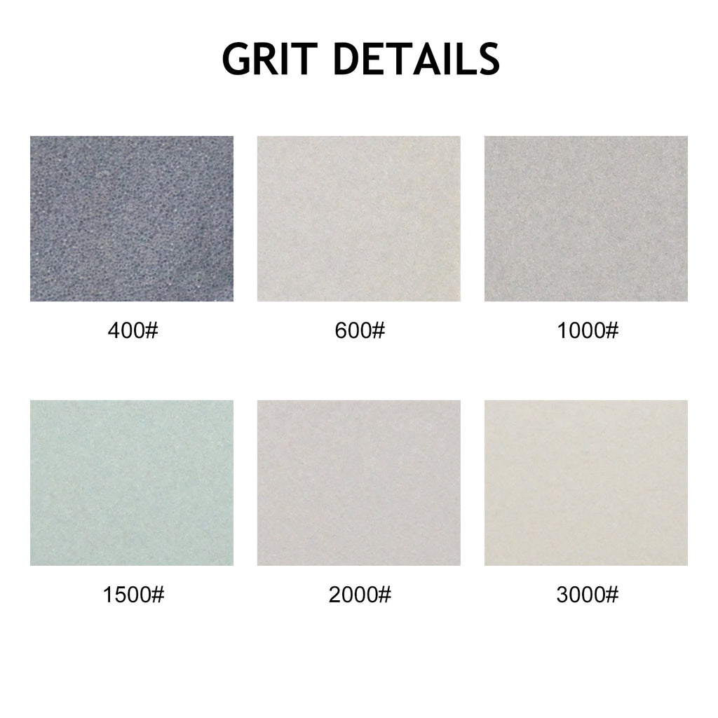 "1.2 x 1.6"" (30 x 40mm) Hook&Loop Sponge-Backed Wet/Dry Sanding Sheets (400-3000 Grit), 1 PC"