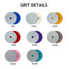 "4"" (100mm) Diamond Wet/Dry Hook & Loop Polishing Discs (50-3000Grit ), 1 Disc"