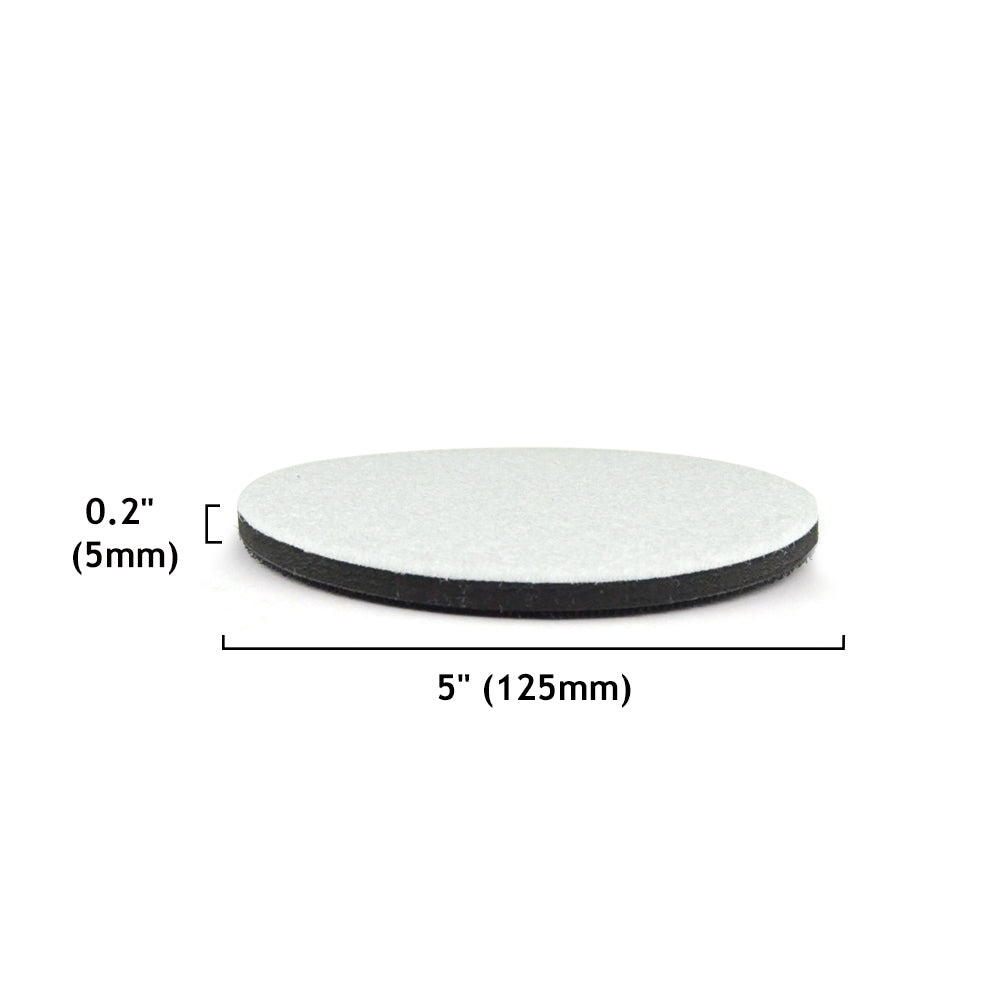 "5"" (125mm) EVA Sponge Hook & Loop Surface Protection Interface Buffer Backing Pad"