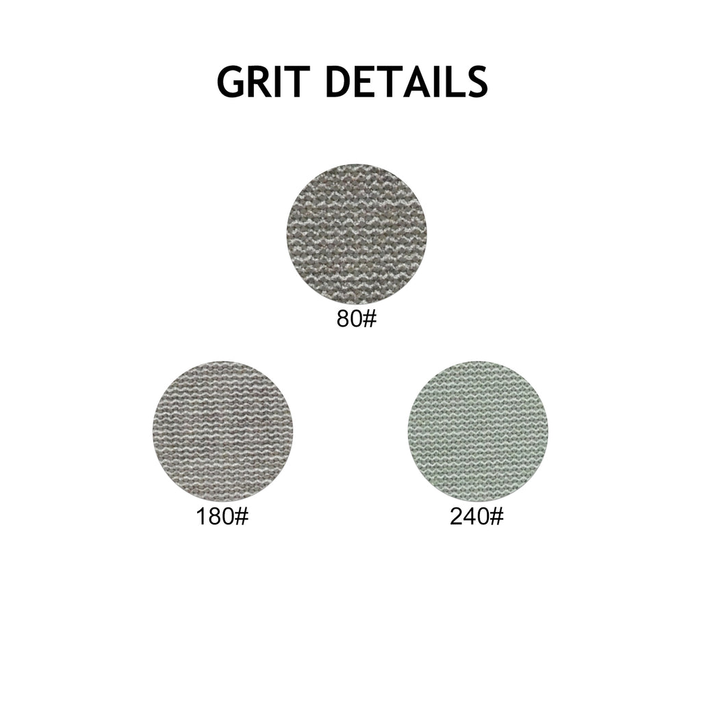 "3"" (75mm) Mesh Dust-free Hook & Loop Sanding Discs (80-240 Grit), 1 Disc"