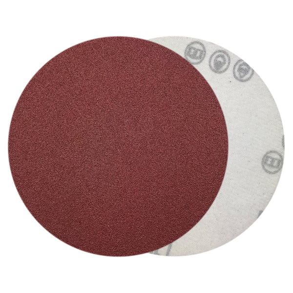 "5"" 100 Grit Red Grain Hook & Loop Sanding Discs, 10 Discs"