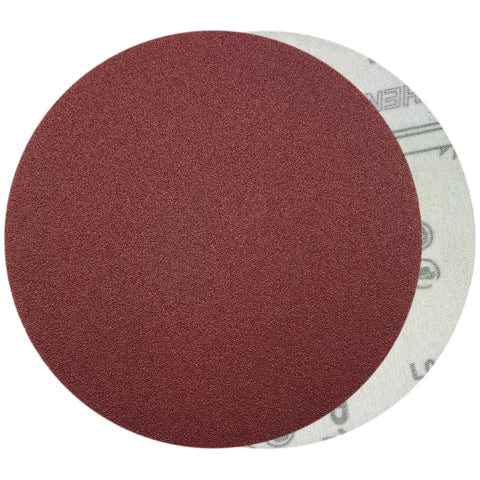 "6"" 100 Grit Red Grain Hook & Loop Sanding Discs, 10 Discs"