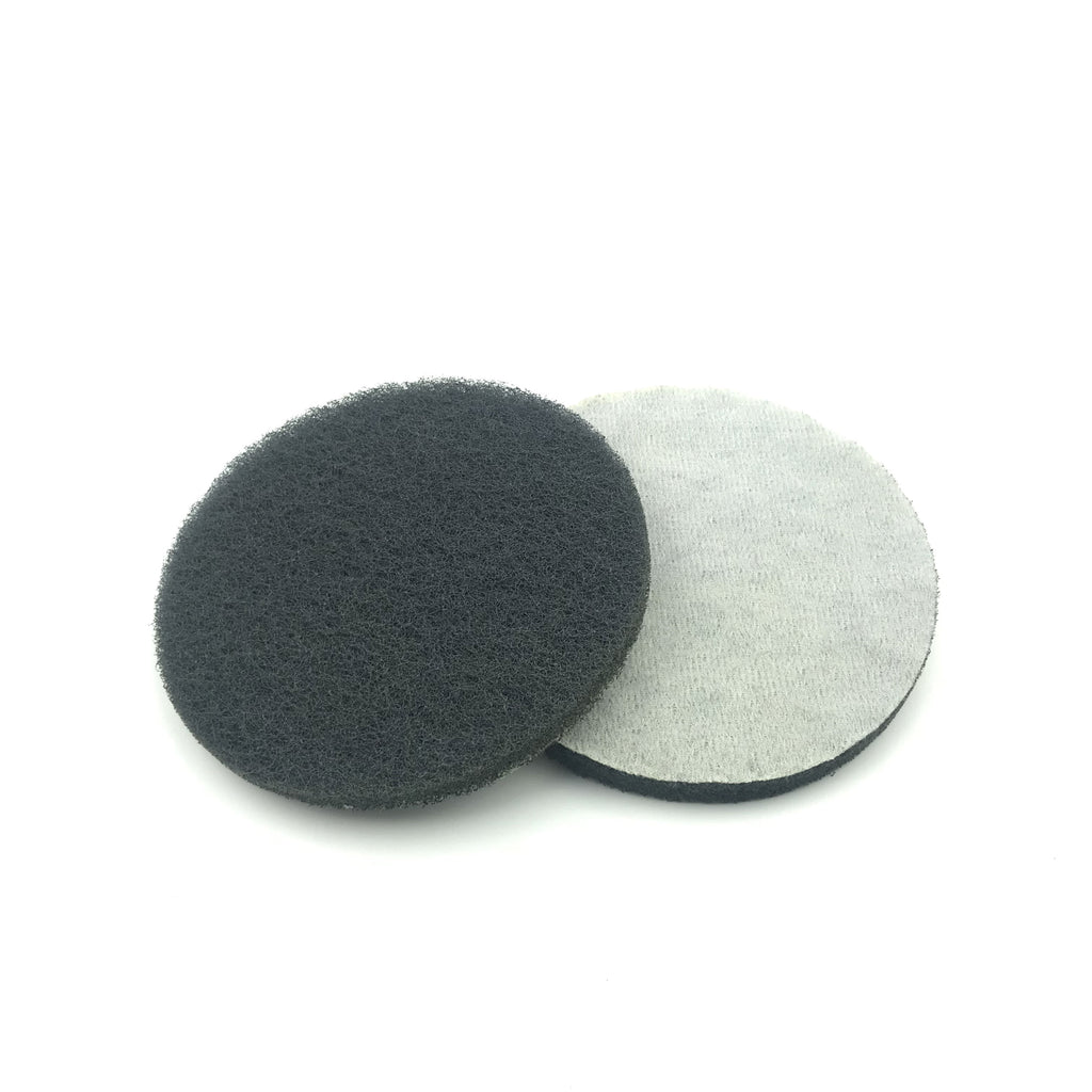 "5"" Fine(1000 Grit) Round Heavy Duty Hook and Loop Scouring Pads"
