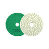 "3"" (80mm) Assorted Grits Diamond Polishing Discs with 6mm Shank Backing Pad, 10 Discs"