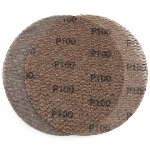 "9"" (220mm) 100 Grit Hook & Loop or Clip on Sander Pads,Mesh Dust Free Sanding Discs, 10 Discs"