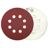 "5"" 120 Grit 8-Hole Red Grain Hook & Loop Sanding Discs, 10 Discs"