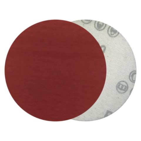 "4"" 1200 Grit Red Grain Hook & Loop Sanding Discs, 10 Discs"