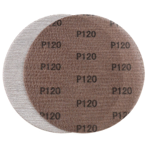 "9"" (220mm) 120 Grit Hook & Loop or Clip on Sander Pads,Mesh Dust Free Sanding Discs, 10 Discs"