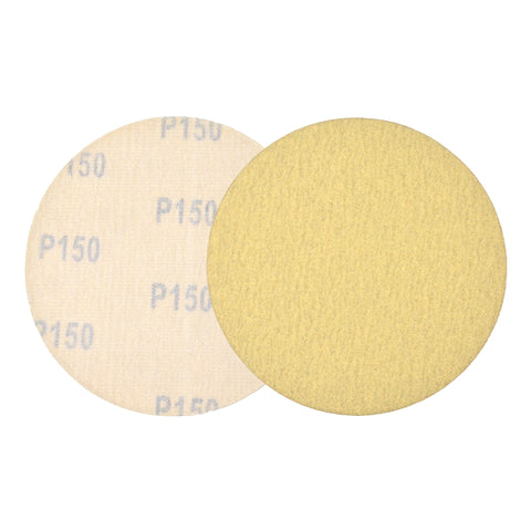 "5"" (125mm) 150 Grit Yellow Hook&Loop Sanding Discs for Dry Sanding, 10 Discs"