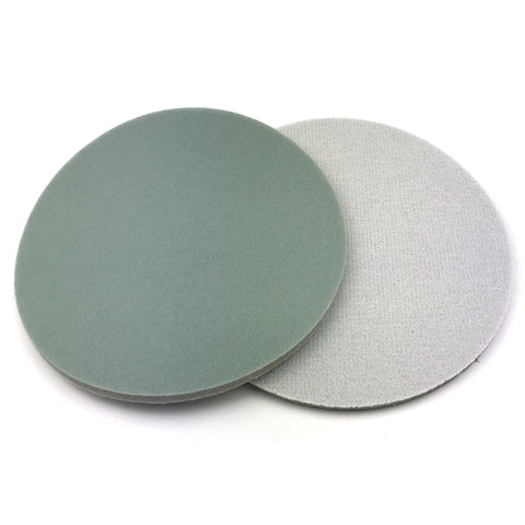 "6"" 1500 Grit Heavy-duty Sponge-Backed Hook & Loop Sanding Discs"