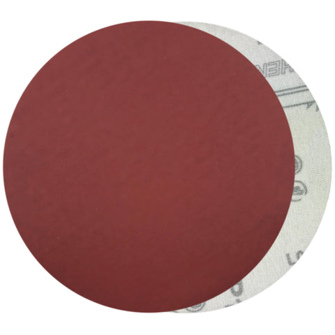 "6"" 1500 Grit Red Grain Hook & Loop Sanding Discs, 10 Discs"