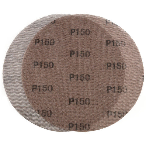 "9"" (220mm) 150 Grit Hook & Loop or Clip on Sander Pads,Mesh Dust Free Sanding Discs, 10 Discs"