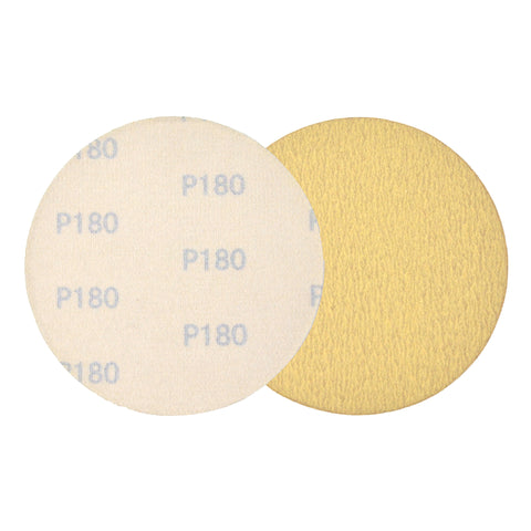 "5"" (125mm) 180 Grit Yellow Hook&Loop Sanding Discs for Dry Sanding, 10 Discs"