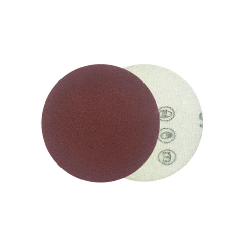 "2"" 180 Grit Red Grain Hook & Loop Sanding Discs, 10 Discs"