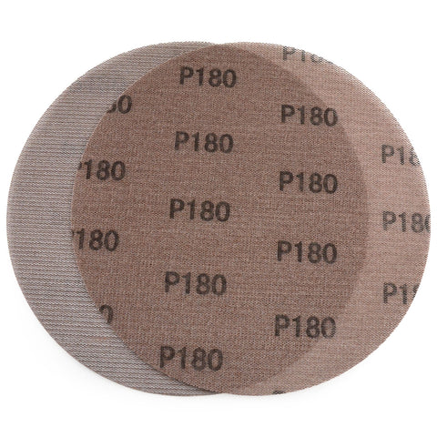 "9"" (220mm) 180 Grit Hook & Loop or Clip on Sander Pads,Mesh Dust Free Sanding Discs, 10 Discs"