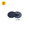 "3"" (80mm) x M10 Thread Hook & Loop Back-up Sanding Pads with 6mm Shank"