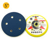 "5"" (125mm) x 5/16-24 Male 5 Holes PSA Back-up Sanding Pads"