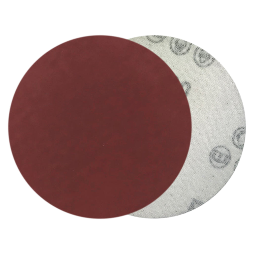 "4"" 2000 Grit Red Grain Hook & Loop Sanding Discs, 10 Discs"