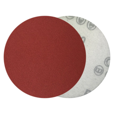 "4"" 240 Grit Red Grain Hook & Loop Sanding Discs, 10 Discs"
