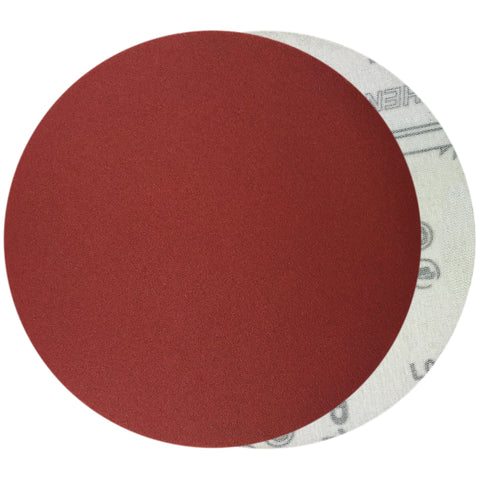 "6"" 240 Grit Red Grain Hook & Loop Sanding Discs, 10 Discs"