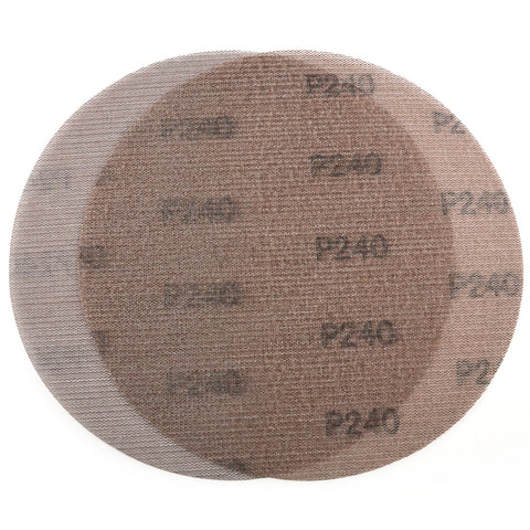 "9"" (220mm) 240 Grit Hook & Loop or Clip on Sander Pads,Mesh Dust Free Sanding Discs, 10 Discs"