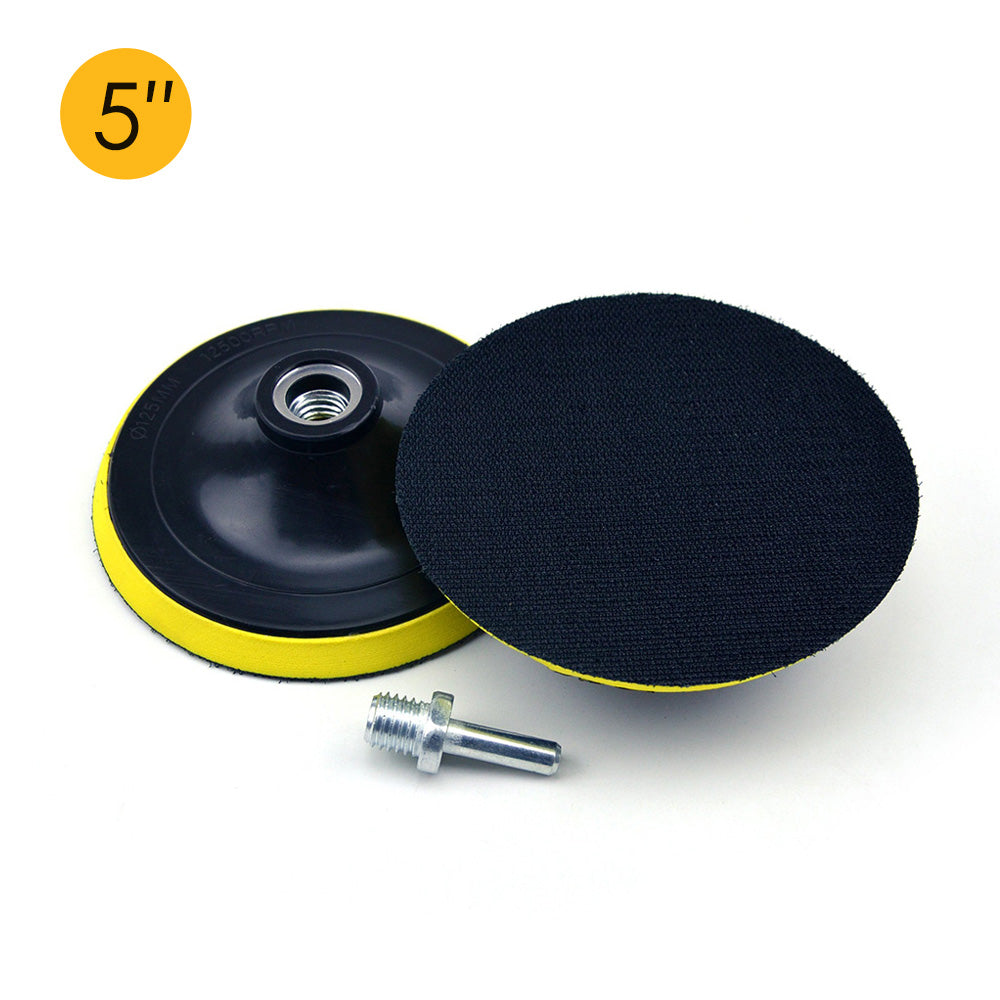 "5"" (125mm) x M14 Thread Hook & Loop Back-up Sanding Pads"