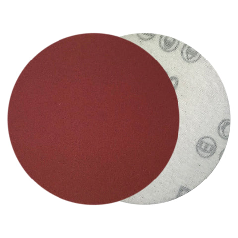 "4"" 320 Grit Red Grain Hook & Loop Sanding Discs, 10 Discs"
