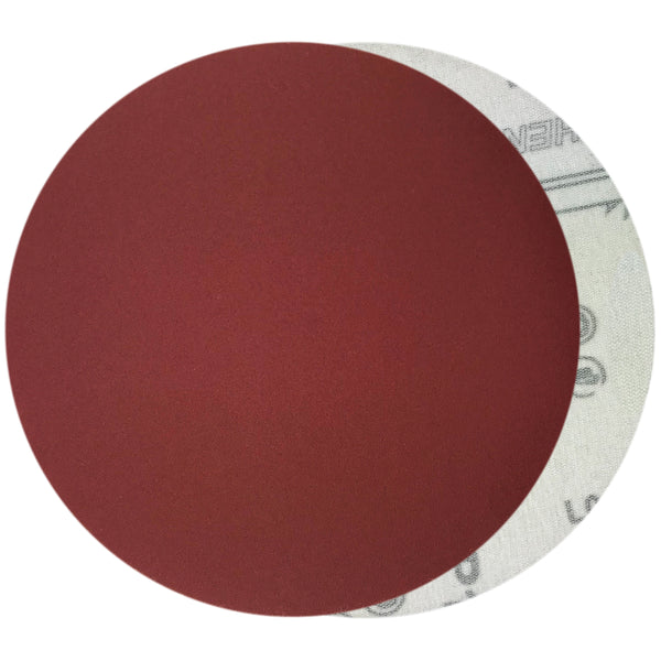"6"" 320 Grit Red Grain Hook & Loop Sanding Discs, 10 Discs"