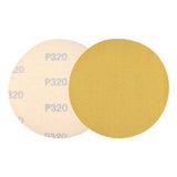 "5"" (125mm) 320 Grit Yellow Hook&Loop Sanding Discs for Dry Sanding, 10 Discs"