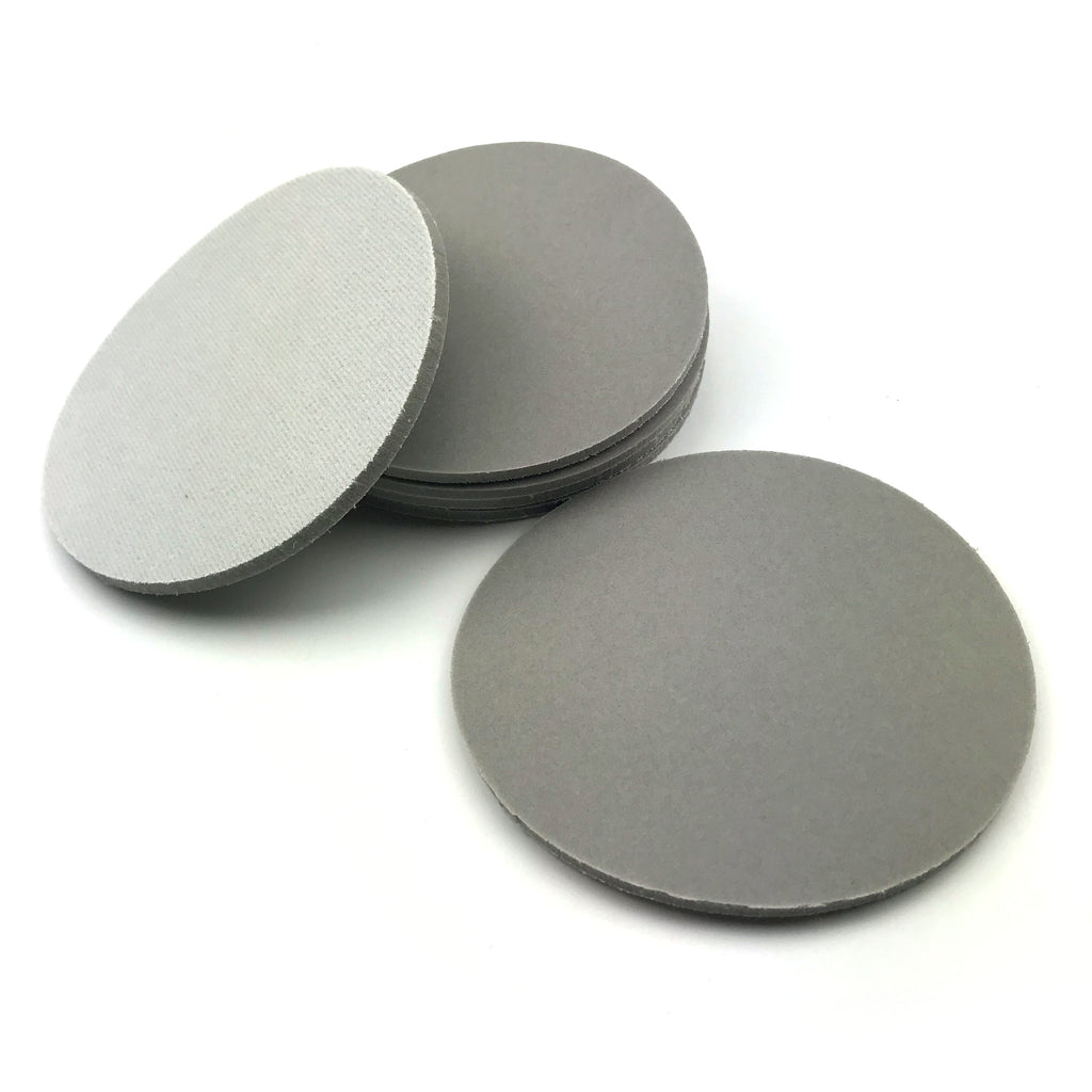 "6"" 320 Grit Heavy-duty Sponge-Backed Hook & Loop Sanding Discs"