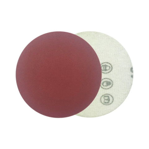 "3"" 320 Grit Red Grain Hook & Loop Sanding Discs, 10 Discs"