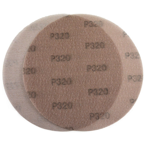 "9"" (220mm) 320 Grit Hook & Loop or Clip on Sander Pads,Mesh Dust Free Sanding Discs, 10 Discs"