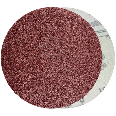 "6"" 40 Grit Red Grain Hook & Loop Sanding Discs, 10 Discs"