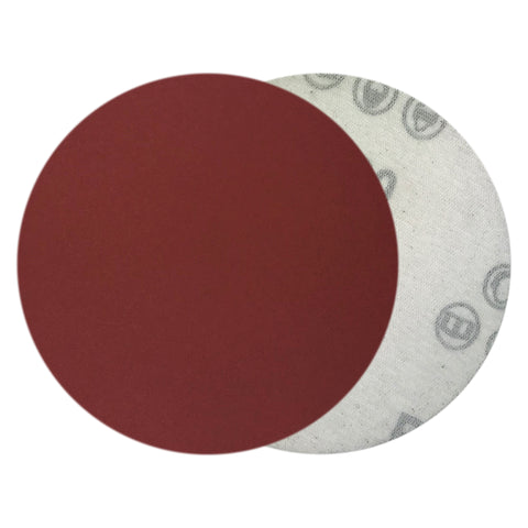 "4"" 400 Grit Red Grain Hook & Loop Sanding Discs, 10 Discs"
