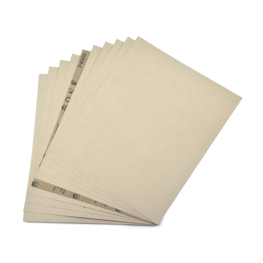 "9 x 11"" Silicon Carbide Wet/Dry Sanding Sheets Abrasive Paper Sheets, 4000 Grit"
