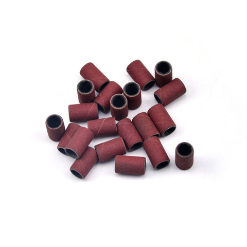 "1/2"" x 1/4"" 400 Grit Aluminum Oxide Sanding Ring Bands Spiral Wound Sanding Sleeves, 10 Bands"