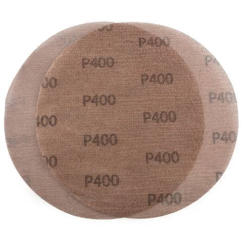 "9"" (220mm) 400 Grit Hook & Loop or Clip on Sander Pads,Mesh Dust Free Sanding Discs, 10 Discs"