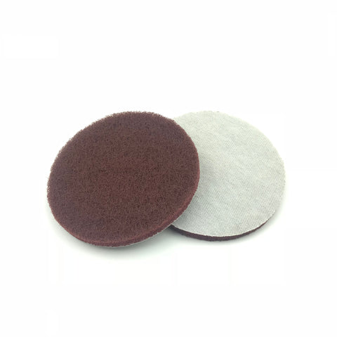 "5"" Medium(400 Grit) Round Heavy Duty Hook and Loop Scouring Pads"