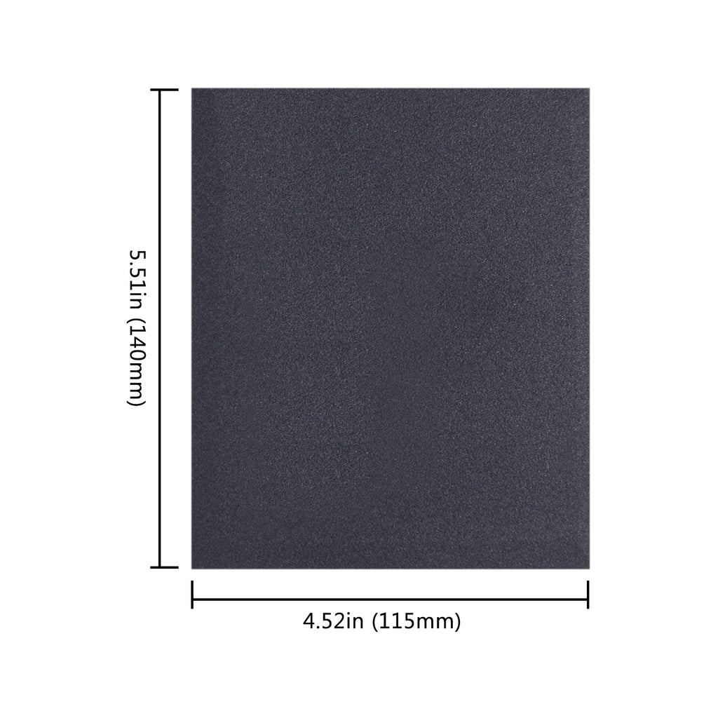 "5.5 x 4.5"" (140 x 115mm) Hook & Loop or Clip on Sander Pads,Silicon Carbide Wet/Dry Sanding Sheet (80-320 Grit), 1 PC"