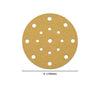 "6"" (150mm) 17-Hole Yellow Hook&Loop Sanding Discs for Dry Sanding (80-400 Grit), 1 Disc"