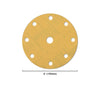 "6"" (150mm) 9-Hole Yellow Hook&Loop Sanding Discs for Dry Sanding (80-400 Grit), 1 Disc"