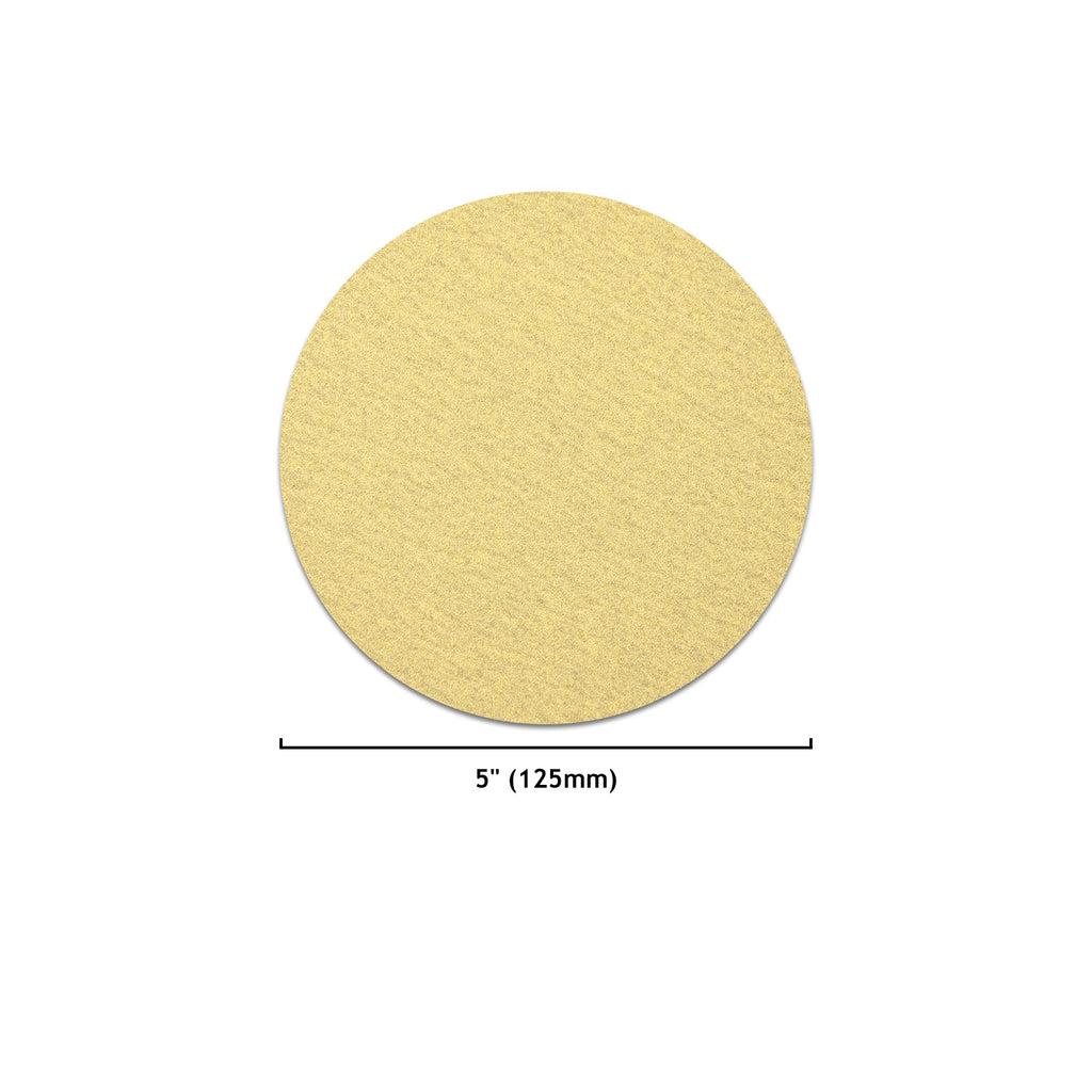 "5"" (125mm) Yellow Hook&Loop Sanding Discs for Dry Sanding (60-1000 Grit), 1 Disc"