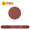 "4"" (100mm) Red Grain Hook & Loop Sanding Discs (40-2000 Grit), 1 Disc"